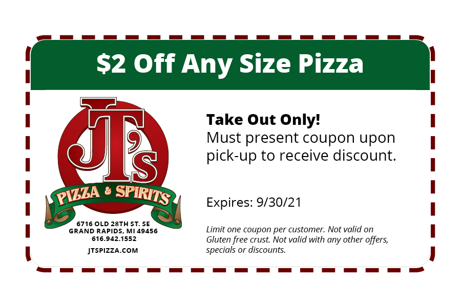 $2 Off Any Size Pizza